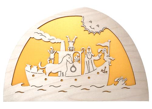 Stoomboot van Sint silhouet (nieuw)
