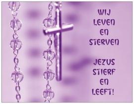 Wij leven en sterven, Jezus stierf en leeft!