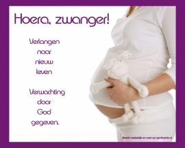Merci kaart Zwanger!