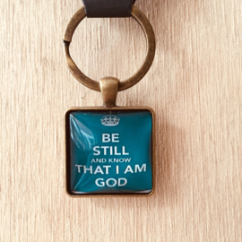 Be still and know that I am God (blauw)