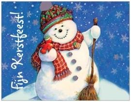 10 st. Fijn kerstfeest! sneeuwpop