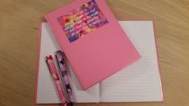 Notitieboek roze of blauw 200  vel
