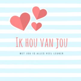 Valentijnsactie doos merci + kaart Liefde