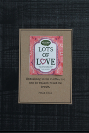 Theekaarten - Lots of Love