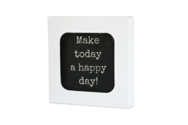 10 verschillende onderzetters in doosje, serie Make today a happy day