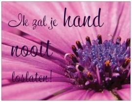 Ik zal je hand nooit loslaten
