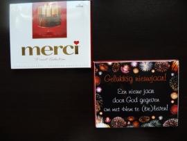 Merci kaart Gelukkig Nieuwjaar!