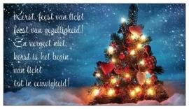 Giftcard (10 st.) Kerst is feest van licht