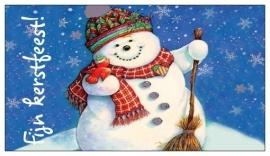 Giftcard (10 st.) Fijn Kerstfeest! sneeuwpop