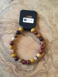 Natuurstenen armband (breed)