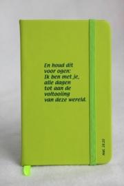 Notitieboekje lime