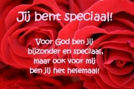 Valentijnsactie  doos Merci + Merci kaart Jij bent speciaal!