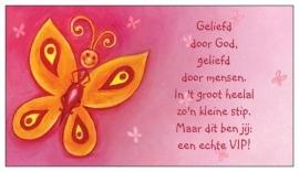 Giftcards 25 st. VIP vlinder