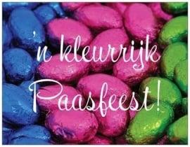 Kleurrijk Paasfeest! met gedicht achterkant