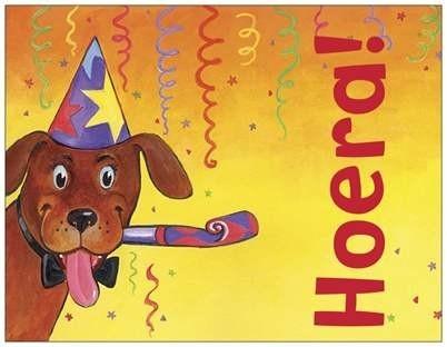 OP=OP Hoera! (hond) met gedichtje achter