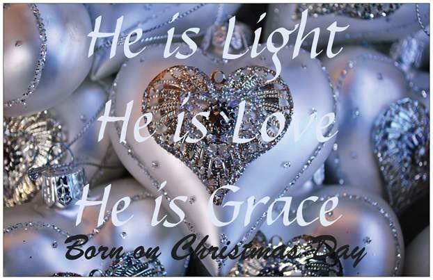 XL kaart He is Light, He is Love, He is Grace