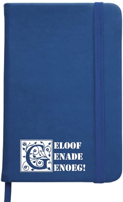 Notitieboekje Geloof Genade Genoeg, donkerblauw