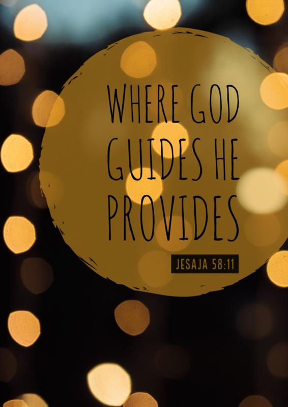 Poster God provides!