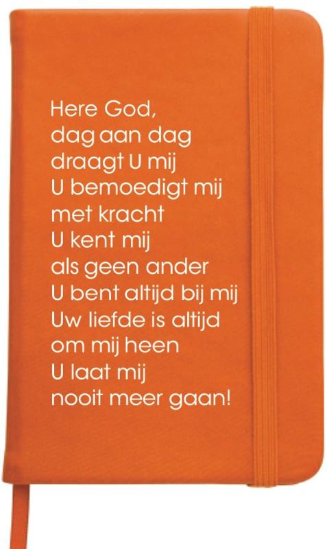 Notitieboekje Dag aan dag draagt U mij, oranje