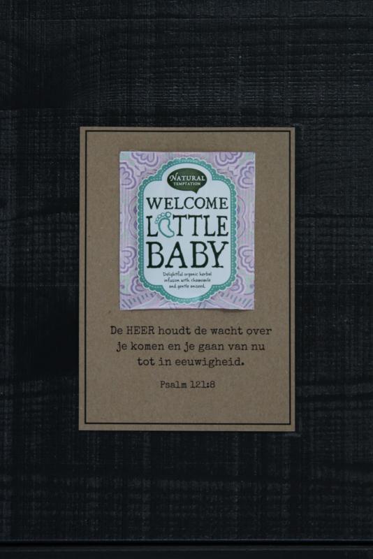 Theekaarten - Welcome Little Baby
