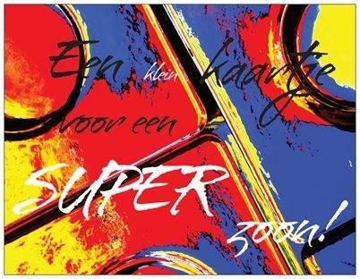 OP=OP een klein kaartje voor een super zoon