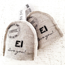Eiwarmer `Ei love you`