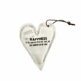Wit linnen hart 'Happiness'