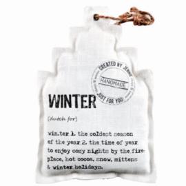 Huisje wit `Winter`