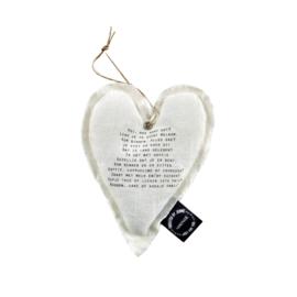 Wit linnen hart `Hoi, hoe gaat het?`