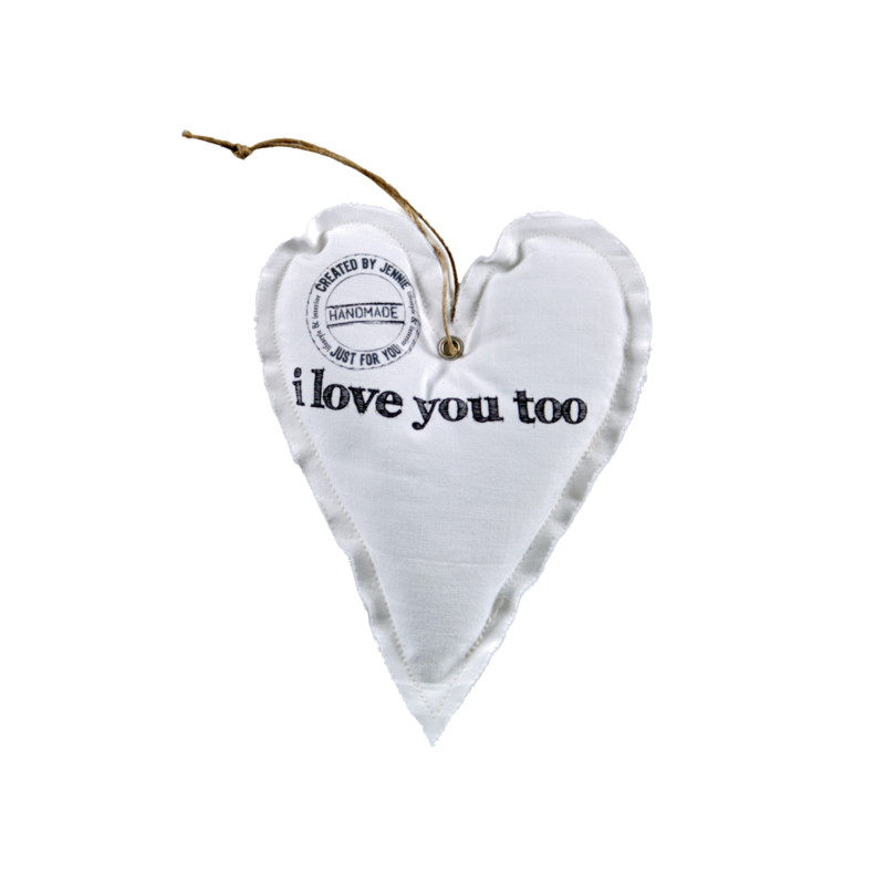 Wit hart `i love you too`