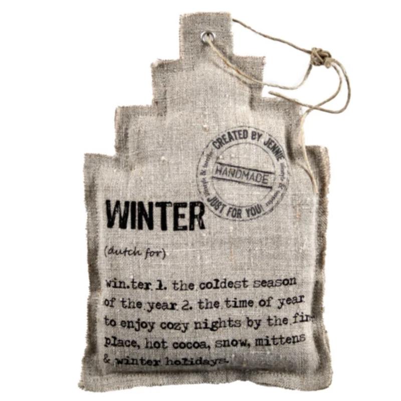 Huisje zand `Winter`