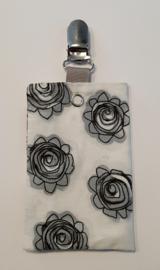 Sonde-zakje bloem grijs