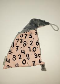 Speendoekje cijfers roze