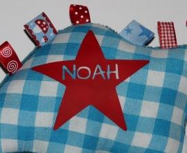 Label-knuffel voor Noah