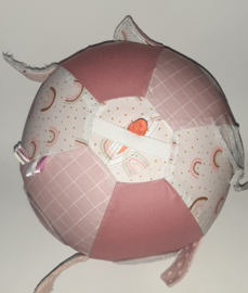 Ballonhoes XL regenboog roze
