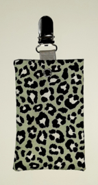 Sonde-zakje luipaard groen