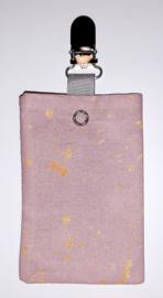 Sonde-zakje roze/ goud