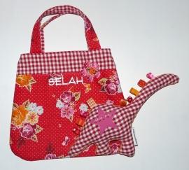 Meidentasje en label-knuffel voor Selah