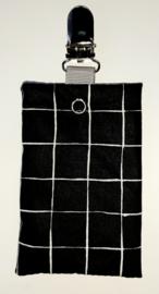 Sonde-zakje ruit zwart