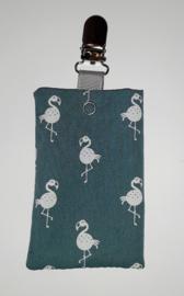 Sonde-zakje flamingo oudgroen