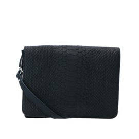 Crossbody Sugar Snake Silver - Black
