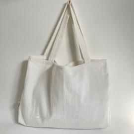 Mom bag Rib crème