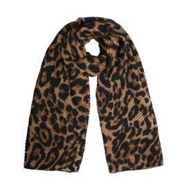 Sjaal leopard/bruin
