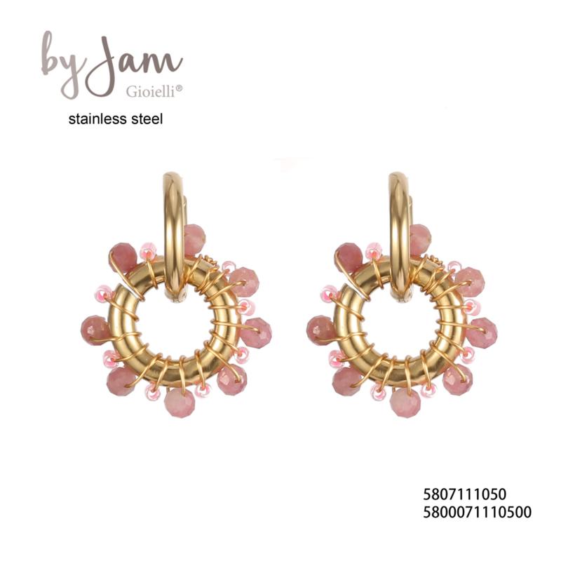 Ringetjes roze steentjes