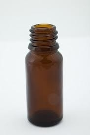 Flesje 10 ml. bruin glas met kindveilige druppeldop