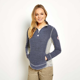 Weird Fish Dames sweatshirt Emmie - Denim/Ecru
