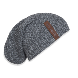 Knit Factory beanie Coco - Antraciet/Grijs