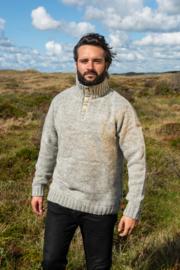 Pure Wool Heren trui Allard - Ecru