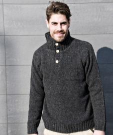 Pure Wool Heren trui Allard - Antraciet