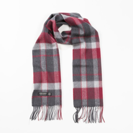 Merino sjaal charcoal silver red